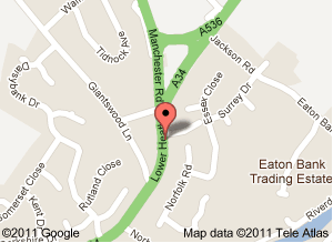 MAP LOCATION FOR CONGLETON