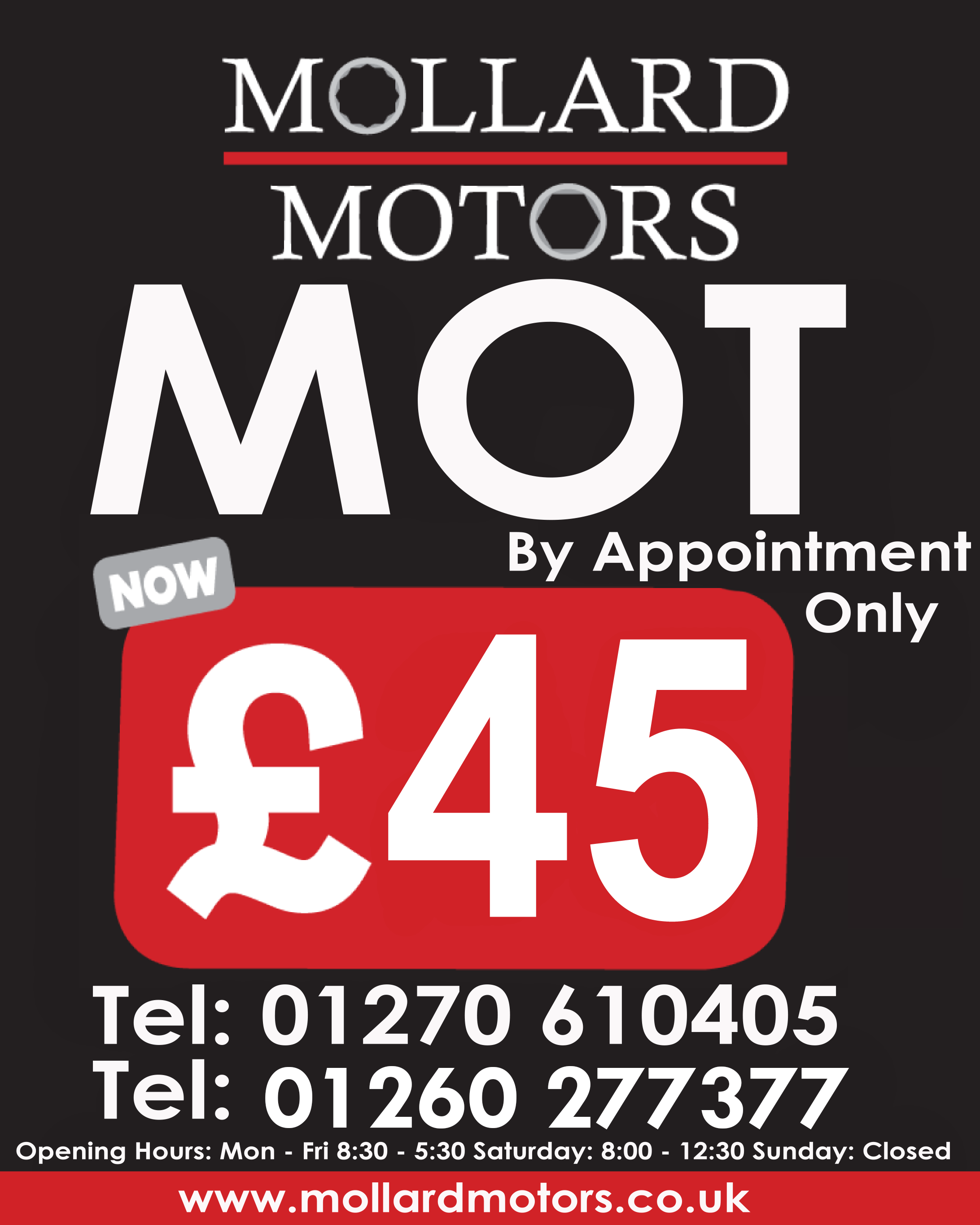 MOT NOW ONLY £35
