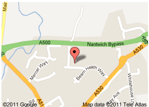 MAP LOCATION FOR NANTWICH
